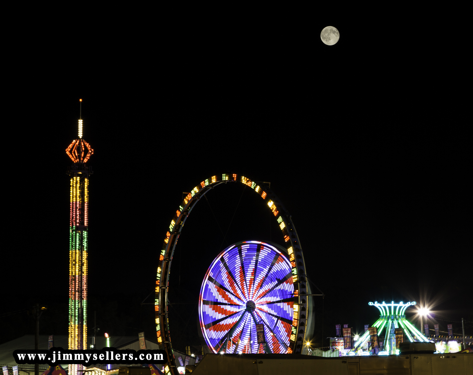 Blue Moon 7/31/2015 over the Cecil County Fair